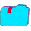Folder b bookmarks 2 icon