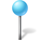 Map Marker Ball Azure-128