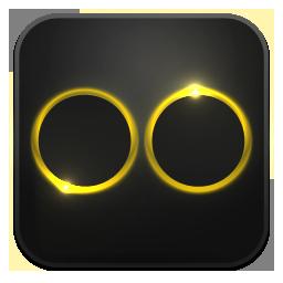 Flickr neon glow
