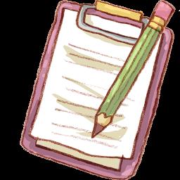 Notepad Pencil Icon Download Harmonia Pastelis Icons Iconspedia