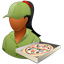Pizzadeliveryman Female Dark icon