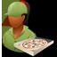 Pizzadeliveryman Female Dark icon