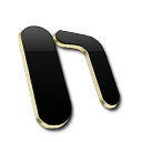 Microsoft One Note Black and Gold-128