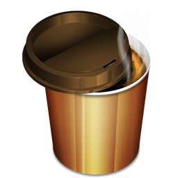 Hot Coffee Plastic Glass