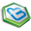 Green shape twitter Icon