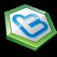 Green shape twitter icon
