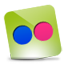 Flickr green hover icon