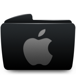 Folder black apple