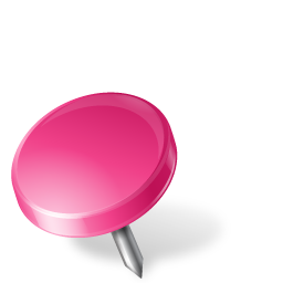 Map Marker Drawing Pin Left Pink
