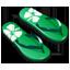 Green slipper icon