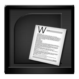 Black Microsoft Word