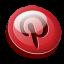 Pinterest 3D Round icon