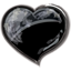 Herz schwarz icon