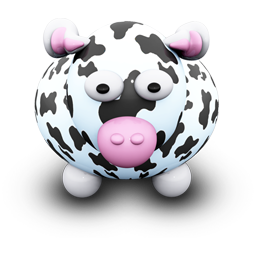 White Cow Black Spots Icon Download We Love Cows Icons Iconspedia