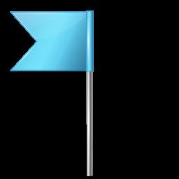 Map Marker Flag 4 Left Azure