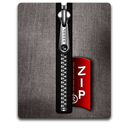 Zip silver black