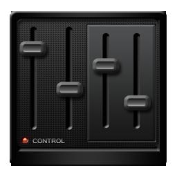 Black Control Panel