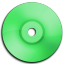 Cd DVD Green icon