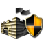 Gold Microsoft Security Essentials icon