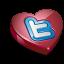 Twitter heart icon