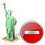 Statue of Liberty Delete icon