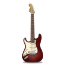 Stratocaster guitar red-128