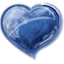 Herz blau icon