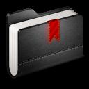 Bookmarks Black Folder-128