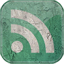 Feed green grunge icon