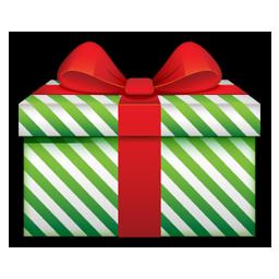 Gift green stripes