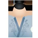 Kimono women blue-128