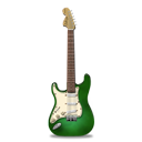 Stratocaster guitar green-128