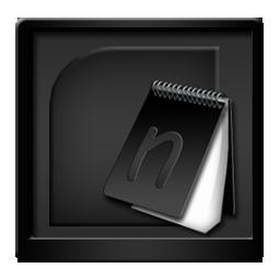 Black Microsoft Onenote Icon | Download BlackBeauty icons