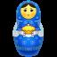 Blue Matreshka Big icon