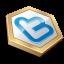 Gold shape twitter-64