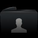 Folder black user-128