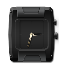 Clock Black and Gold