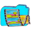 Folder b videos icon