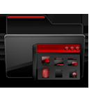 Folder Program Group black red-128