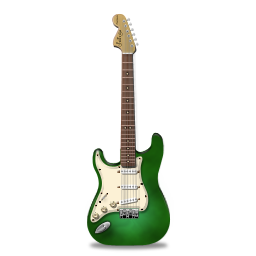 Stratocaster guitar green