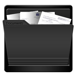 Black My Documents Icon Download Blackbeauty Icons Iconspedia