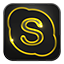 Skype neon glow Icon