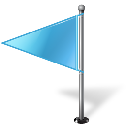 Map Marker Flag 1 Left Azure