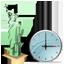 Statue of Liberty Clock Icon