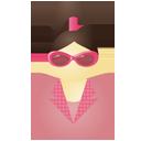 Sunglass woman pink-128