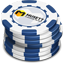 Blue Casino Chips Icon