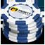 Blue Casino Chips-64