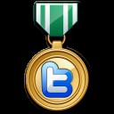 Twitter medal green-128
