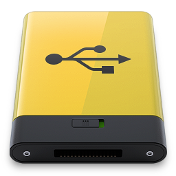 Hdd Yellow Usb Icon Download Hdrv Icons Iconspedia