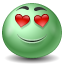 Inlove emoticon icon